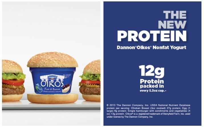 Dannon yogurt hight protein targeting men